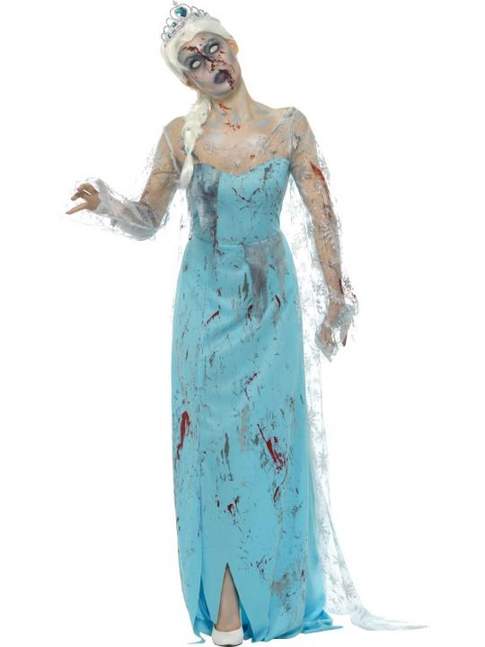 Zombie Froze to Death Women's Fancy Dress Costume Thumbnail 1