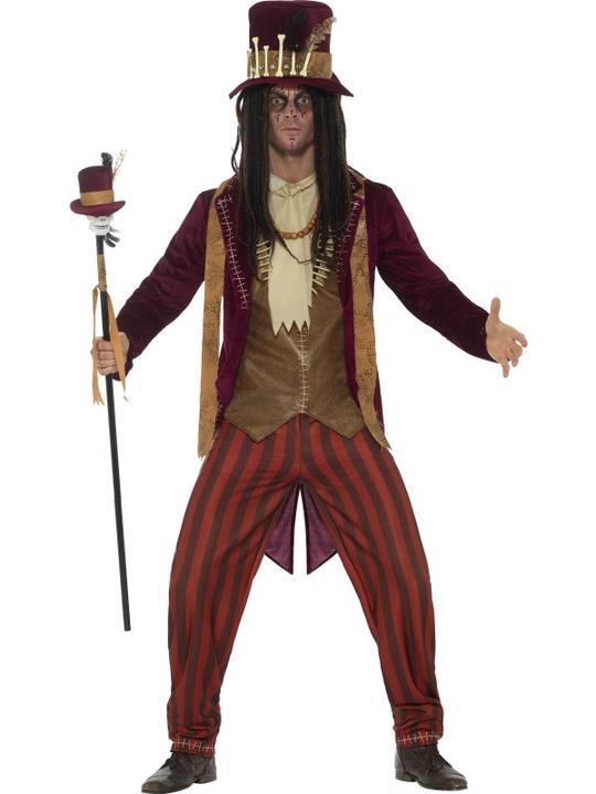 Deluxe Voodoo Witch Doctor Men's Fancy Dress Costume Thumbnail 1