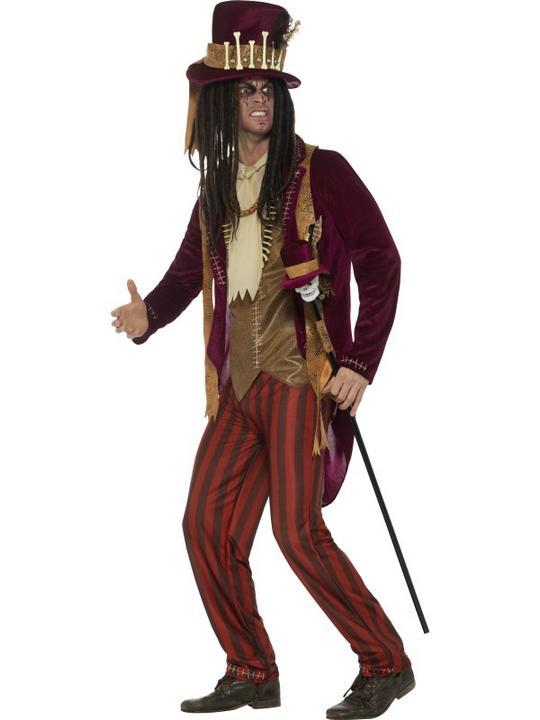 Deluxe Voodoo Witch Doctor Men's Fancy Dress Costume Thumbnail 2