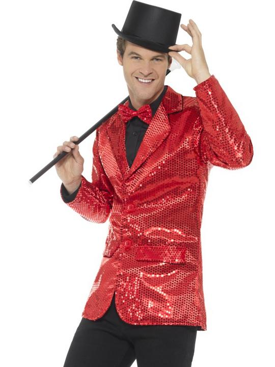 Sequin Jacket Men's Fancy Dress Costume Thumbnail 1