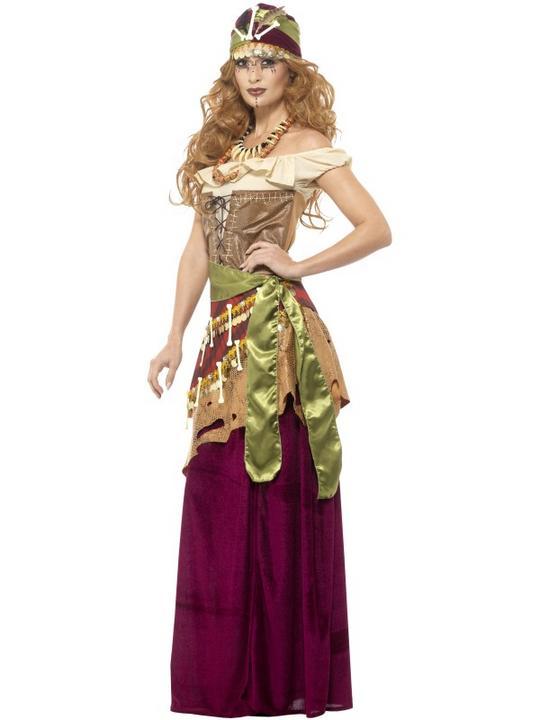 Deluxe Voodoo Priestess Women's Fancy Dress Costume Thumbnail 3