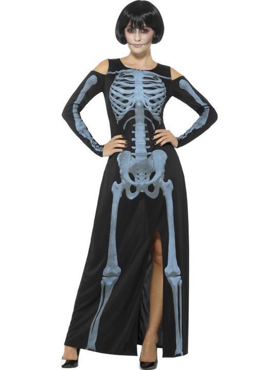 X-Ray Skeleton Women's Fancy Dress  Costume Thumbnail 1