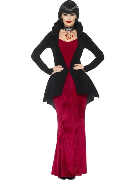 Deluxe Regal Vampiress Women's Fancy Dress Costume Thumbnail 1