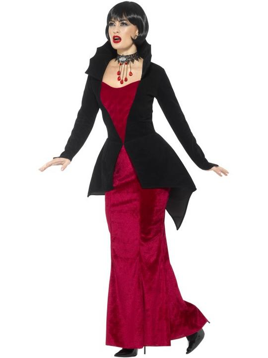 Deluxe Regal Vampiress Women's Fancy Dress Costume Thumbnail 3