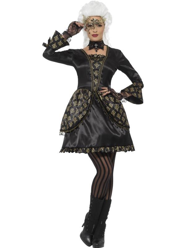 Deluxe Masquerade Women's Fancy Dress Costume