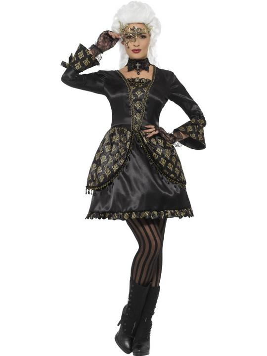 Deluxe Masquerade Women's Fancy Dress Costume Thumbnail 1