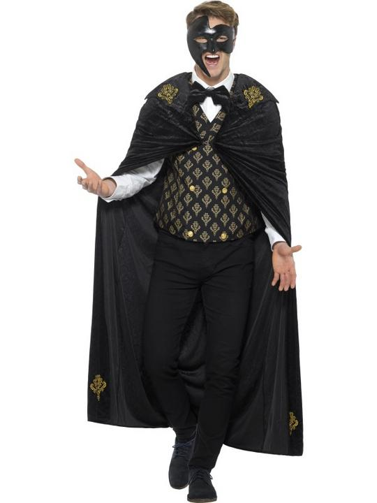Deluxe Phantom Men's Fancy Dress Costume Thumbnail 1
