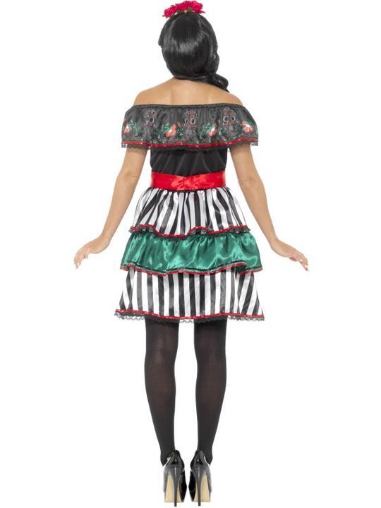 Day of the Dead Senorita Doll Women's Fancy Dress Costume Thumbnail 2