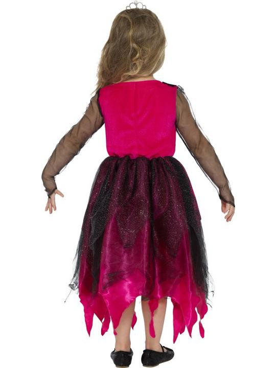 Deluxe Gothic Prom Queen Girl's Fancy Dress Costume Thumbnail 2