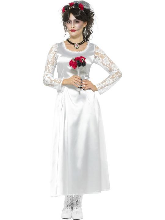 Day of the Dead Bride Womne's Fancy Dress Costume Thumbnail 1