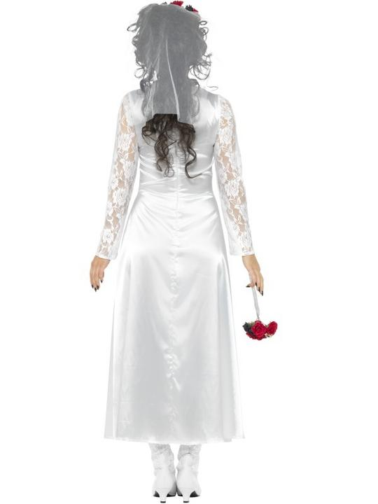 Day of the Dead Bride Womne's Fancy Dress Costume Thumbnail 2