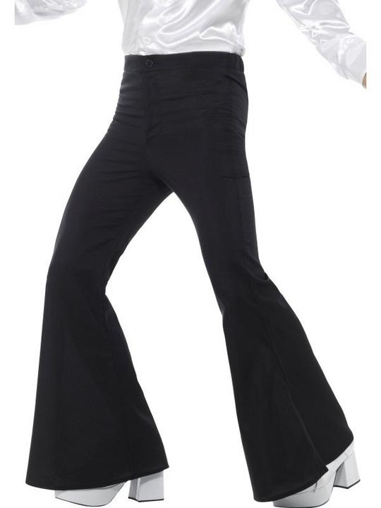 Flared Trousers Men's Fancy Dress Costume Thumbnail 1