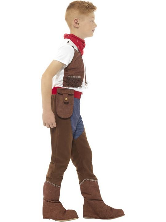 Deluxe Cowboy Boy's Fancy Dress Costume Thumbnail 2