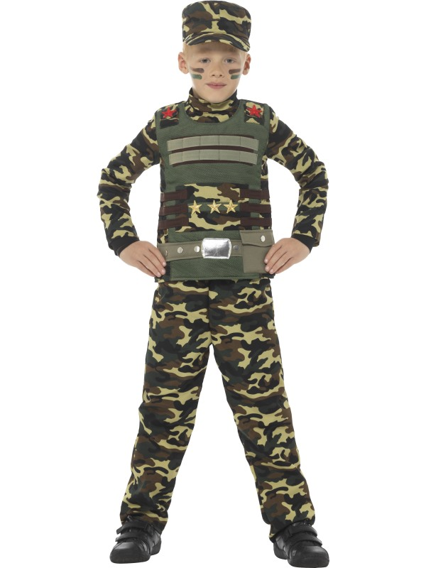 Camouflage Military Boy Fancy Dress Costume