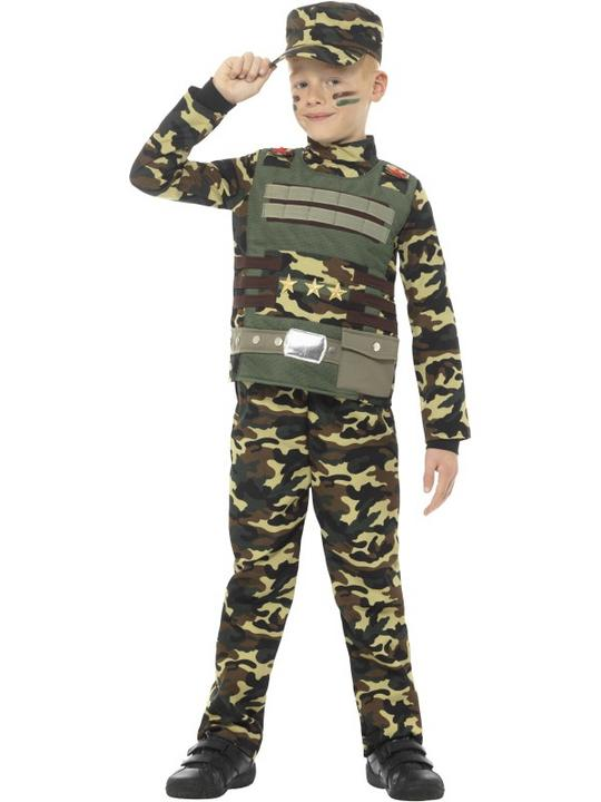 Camouflage Military Boy Fancy Dress Costume Thumbnail 2