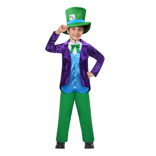 Top Hatter Boy's Fancy Dress Costume Thumbnail 1