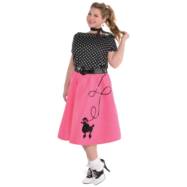 50's Flair Womens Plus Size Fancy Dress Costume
