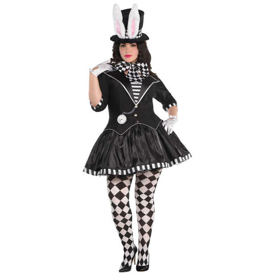 Dark Mad Hatter Women's Plus size Fancy Dress Costume Thumbnail 1