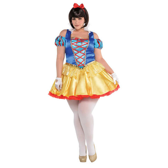 snow White Women's Fancy Dress Costume Plus Size Thumbnail 1