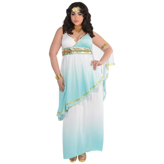 Grecian Goddess Women's Fancy Dress Costume Plus Size