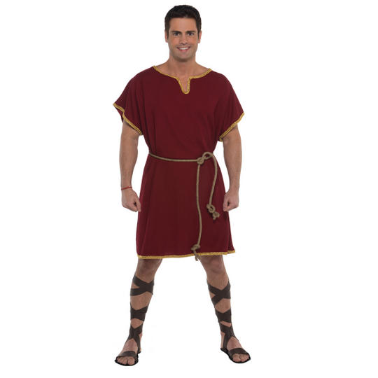Burgundy Tunic Men's Fancy Dress Costume Thumbnail 1