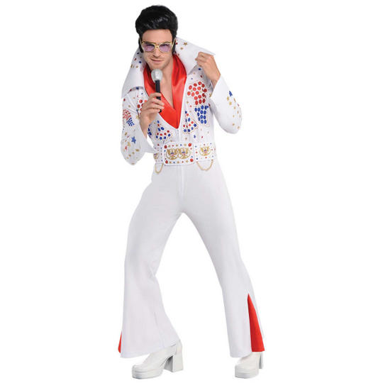 King of Vegas Men's Fancy Dress Costume Thumbnail 1