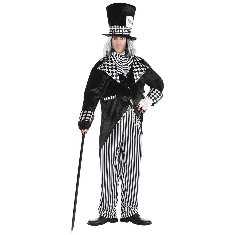 Totally Mad Hatter Men's Fancy Dress Costume Plus Size