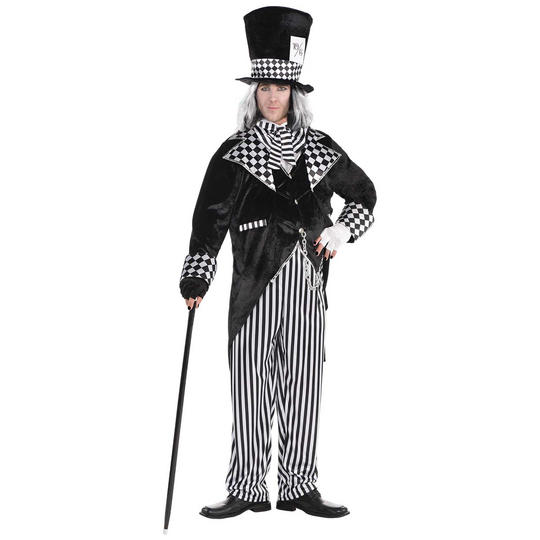 Totally Mad Hatter Men's Fancy Dress Costume Plus Size Thumbnail 1
