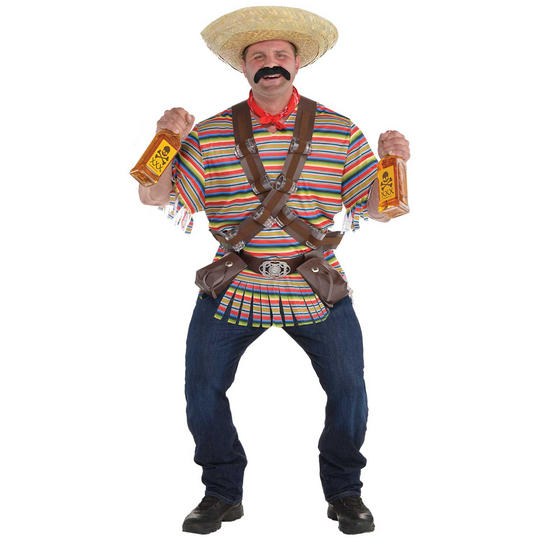 Tequila Bandito Men's Fancy Dress Costume Plus Size Thumbnail 1