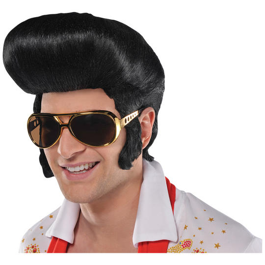 The King 50's Fancy Dress Wig Thumbnail 1