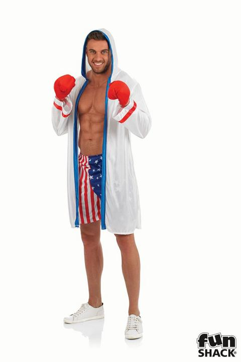 Boxer Men's Fancy Dress Costume Thumbnail 1