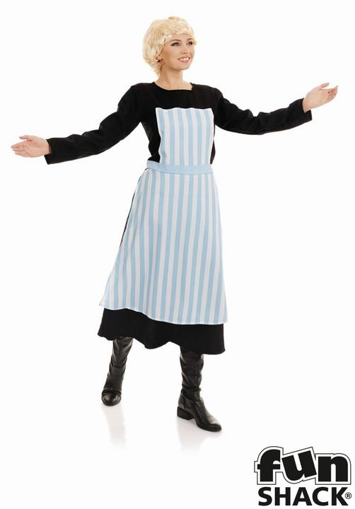 Swiss Nanny Women's Fancy Dress Costume Thumbnail 1