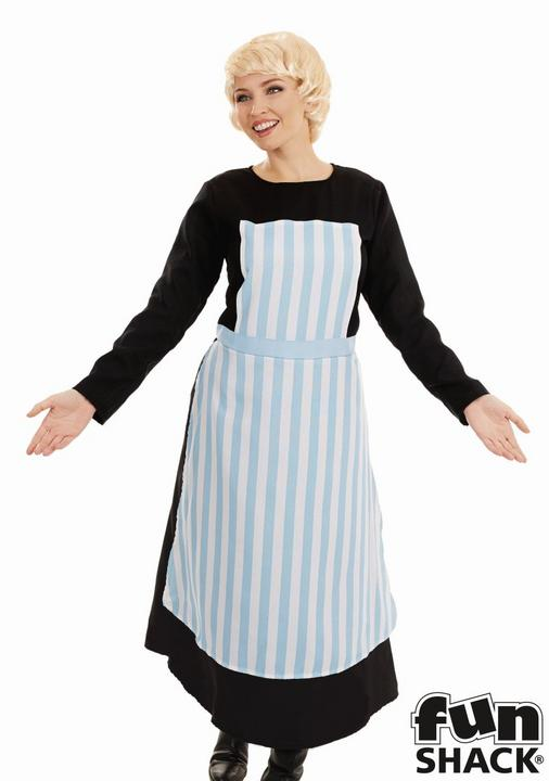 Swiss Nanny Women's Fancy Dress Costume Thumbnail 2