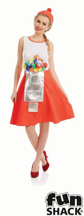 Gumball Dress Women's Fancy Dress Costume Thumbnail 1