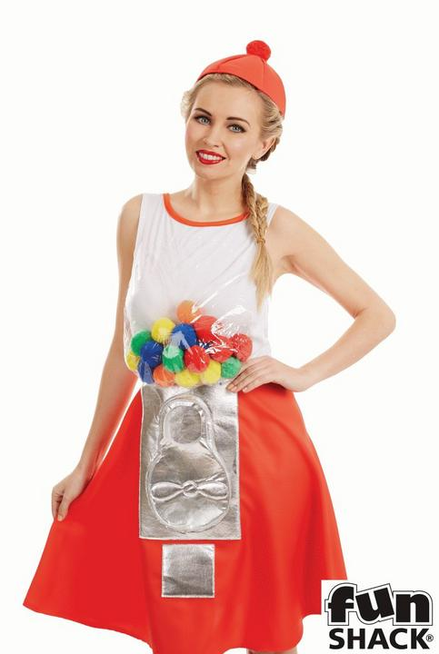 Gumball Dress Women's Fancy Dress Costume Thumbnail 2