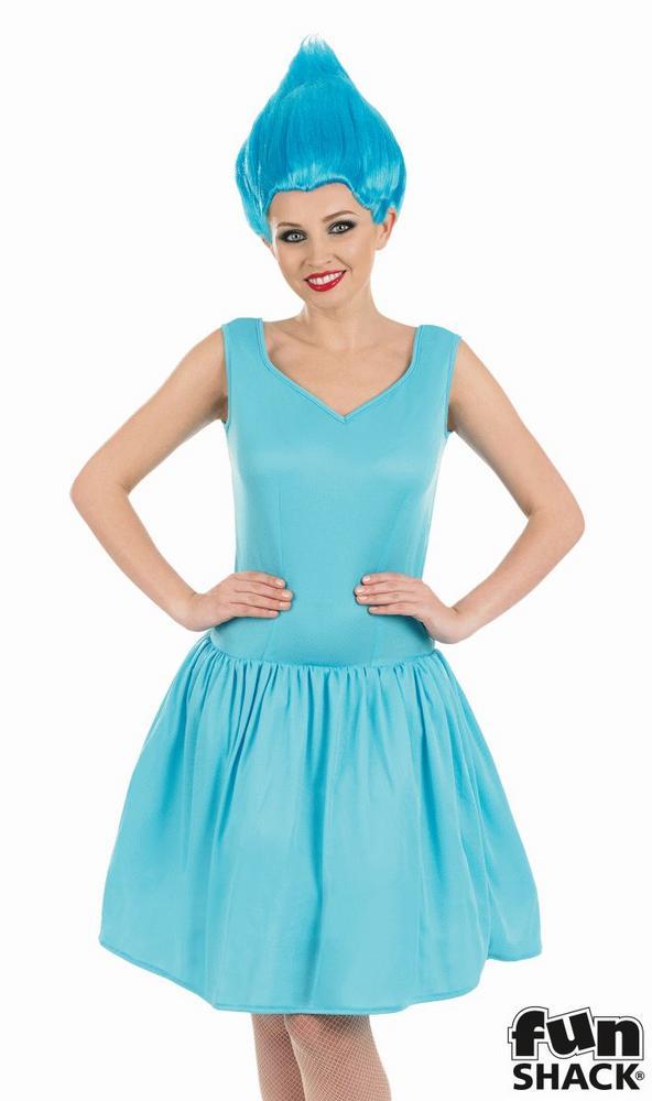 Blue Neon Pixie Women's  Fancy Dress Costume