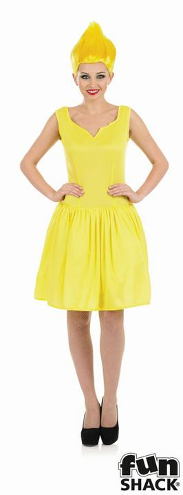 Yellow Neon Pixie Women's Fancy Dress Costume Thumbnail 1