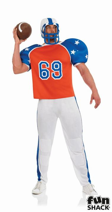 American Footballer Men's Fancy Dress Costume Thumbnail 1
