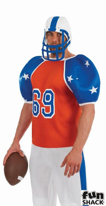American Footballer Men's Fancy Dress Costume Thumbnail 2