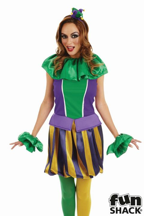 Carnival JesterWomen's Fancy Dress Costume Thumbnail 2