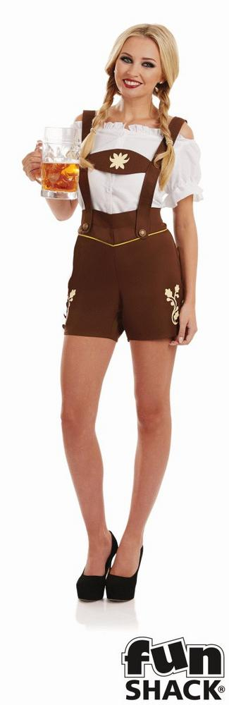 Bavarian Lederhosen Women's Fancy Dress Costume