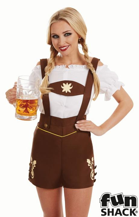 Bavarian Lederhosen Women's Fancy Dress Costume Thumbnail 2