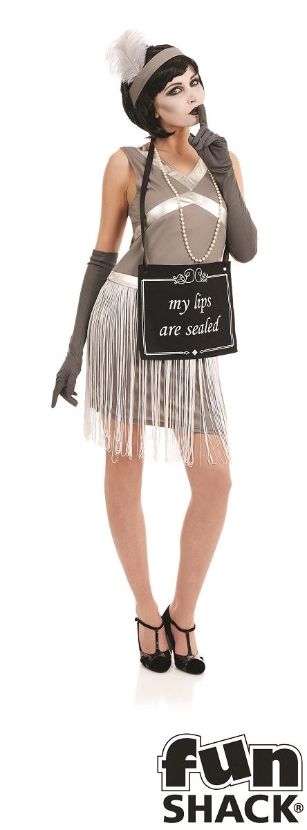 Silent Film Flapper Women's Fancy Dress Costume