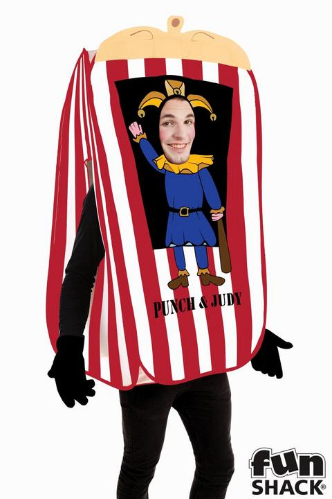 Punch And Judy Booth Men's Fancy Dress Costume Thumbnail 2