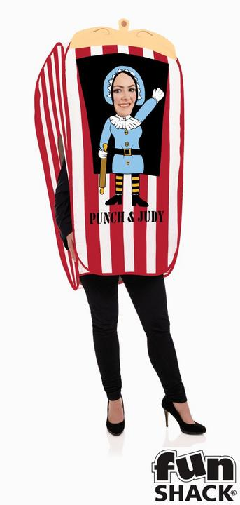 Punch And Judy Puppet Booth Women's Fancy Dress Costume Thumbnail 1