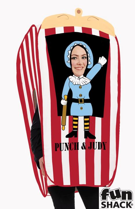 Punch And Judy Puppet Booth Women's Fancy Dress Costume Thumbnail 2
