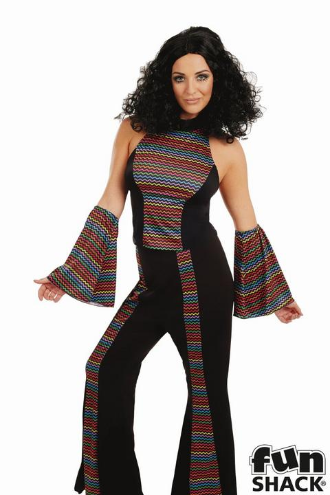 Disco Diva Women's Fancy Dress Costume Thumbnail 2