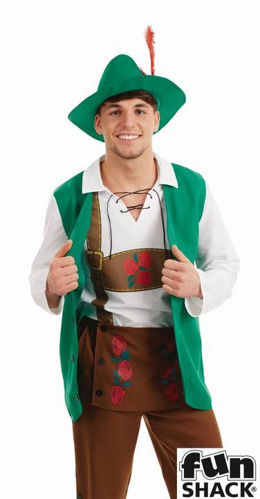 Traditional Bavarian Men's Fancy Dress Costume Thumbnail 2
