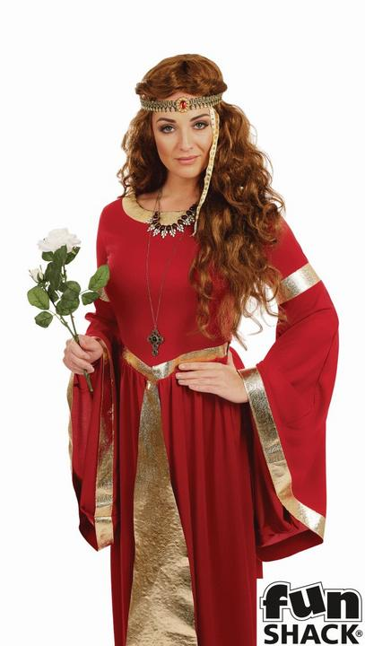 Lady Renaissance Women's Fancy Dress Costume Thumbnail 2