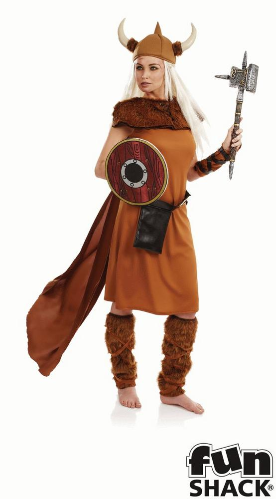 Viking Lady Women's Fancy Dress Costume